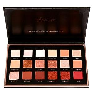 KISSION 18 Couleurs Ombres à Paupières Palette, Etanche Cosmetic Matte Ombre à paupières Nouvelle Palette d'ombre à Paupières de Maquillage pour Femmes (A02)