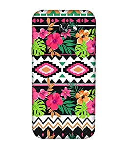 PrintVisa Designer Back Case Cover for Samsung A3 (2017) (Awesome Flower Pattern Cloth Traditional)