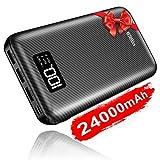 Salida 2.4A, entrada 2.4A, ajustes universales      Puerto de salida tres USB 2.4A, carga tres dispositivos simultáneamente en velocidad rápida; 2.4A de entrada, recargue un 45% más rápido que un paquete de baterías de 1 A           Ultra al...