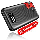 KEDRON Powerbank 24000mAh Externer Akku mit Dual Input und 3