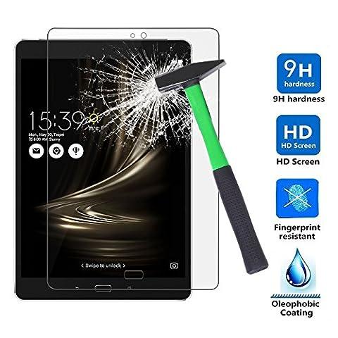 Infiland ASUS Zenpad 3S 10 Protecteur écran, Prémium HD Film de Protection d'écran en Verre Trempé de Dureté 9H pour Asus ZenPad 3S 10 Z500M 9.7 inch Android Tablet (Modèle publié en 2016)