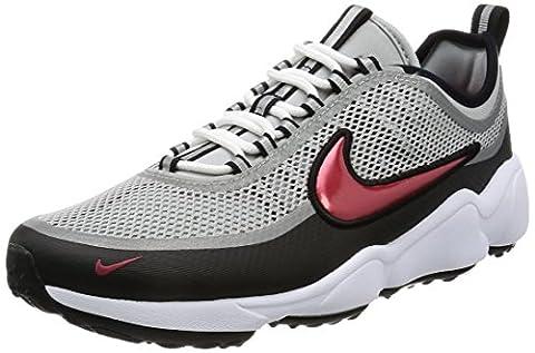 Nike Men's Zoom Spiridon Ultra Low-Top Sneakers, Grey (Metallic Silver/Desert