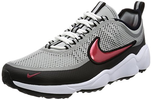 Nike Zoom Spiridon Ultra, Sneakers Basses Homme Gris (Metallic Silver/desert Red/black/white)