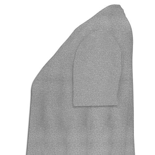 Hunde - Bad Boy Mops Vintage - Lockeres Damen-Shirt in großen Größen mit Rundhalsausschnitt Grau Meliert