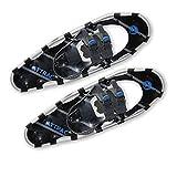 ATTRAC Schneeschuhe Aluminium | Belastbar bis 90 kg | RUTSCHSICHER doppelte Ratschenbindung