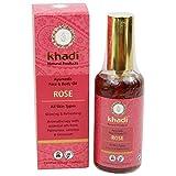 Khadi Rosenöl, für Gesicht und Körper, regenerierend und mit Peeling-Effekt, hilft bei Flecken und Narben, 100ml.