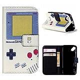 MOONCASE Wiko Sunset 2 Hülle, Game Boy Design Leder Tasche