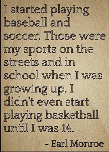 Norma Lily I Schritte Spielen Baseball und Fußball. inspirierenden Zitat Zeichen, Laser Gedruckt auf Holzschild-Größe: 25,4x 45,7cm. (Zeichen Gedruckte)