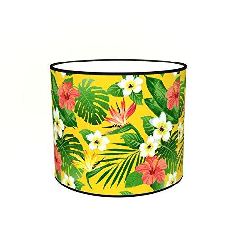 Abat-jours 7111304007756 Imprimé Illona Lampadaire, Tissus/PVC, Multicolore