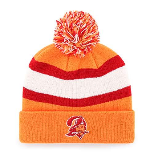 NFL Herren NFL Rush Down OTS Strickmütze mit Bommel, Rush Down Legacy Cuff Knit Cap with Pom, Legacy, Einheitsgröße (Kleidung Mng)