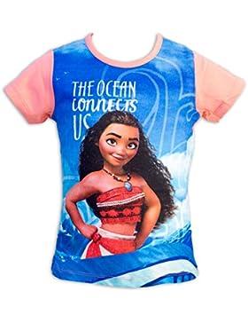 Vaiana Disney T-Shirt Maglia Maglietta a Maniche Corte Full Print - Bambina - Novità Prodotto Originale 5326