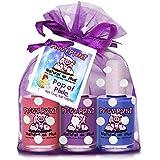 Piggy Paint Non-Toxic Nail Polish, Pop of Pixie, 3 Polish Gift Set