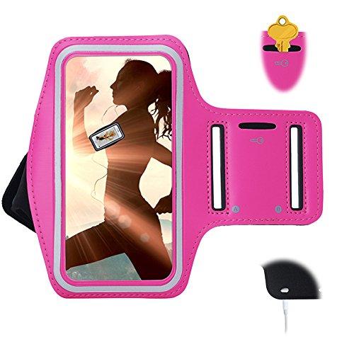 Urvoix iPhone se/5S/5C brazalete, deportes correr gimnasio brazalete con titular de la clave para iPod Touch 5