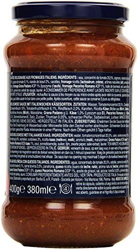 Barilla Pastasauce Bolognese Formaggi Italiani – Bolognese-Sauce 1 Glas (1x400g) - 4