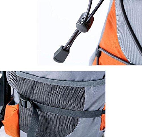 borsa trekking sacchetto rampicante esterno 40 + 10L zaino tracolla uomini e donne borsa ( Colore : Giallo , dimensioni : 40+10L ) Arancia