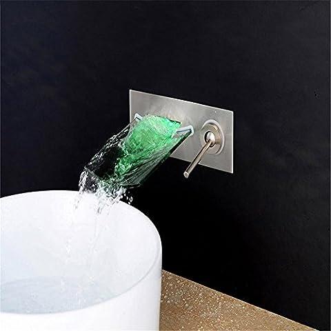 modylee da parete finitura cromata bagno rubinetto lavabo in vetro beccuccio cascata rubinetto miscelatore monocomando per lavabo rubinetto rubinetto lh-16812, 2