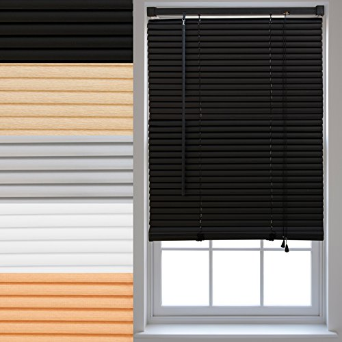 pvc-venetian-window-blinds-trimmable-home-office-blind-new-black-45cm-x-150cm
