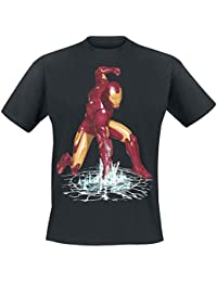 T-shirt Comic Marvel Iron Man Avengers - Sous licence - Noir - XL