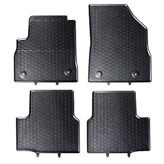 AME Auto-Gummimatten in schwarz und Wabendesign, Geruch-vermindert und passgenau mit verbauten Befestigungen 869/4C