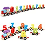 Lakshya-Wooden Number/Digital Train Blocks Set Toys For Kids And Toddlers-Best Educational Set Of Trains With Fun And Colorful 0-9 Number Figures Railway Model Toys For Boys & Girls-Beneficial For The Nursery Kids