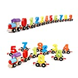 #4: Lakshya Boy's and Girl's Wooden Digital Train Blocks Toy Set