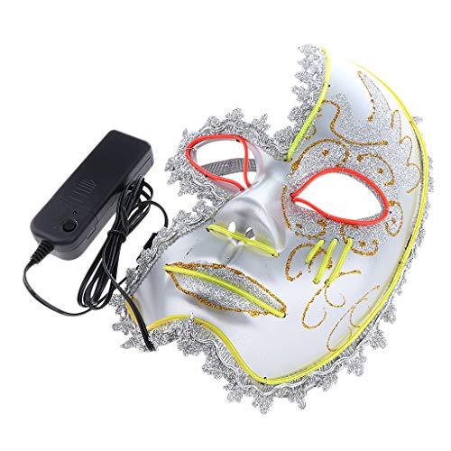 rade Maske Leuchtende Maske Halloween/Cosplay Maske passt an Kostüm - Grün ()