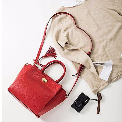 Borsa in pelle cuoio/messenger/borsa a tracolla/borsetta,verde Rosso