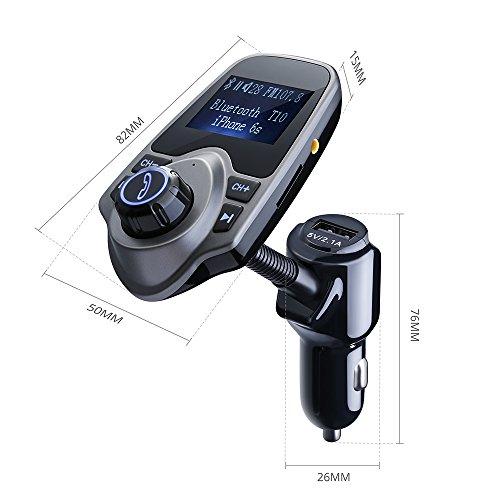 Transmisor-FM-Bluetooth-de-VicTsing-Manos-Libres-Cargador-con-Audio-de-35mm-Mic-Puerto-Ranura-para-Tarjeta-del-TF-para-Coche