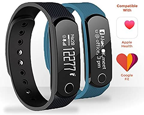 Fitness Tracker, Pedometer / Activity Tracker Wristband - Pedometer, Heart Rate Monitor, Sleep Tracker, Calorie Count, IPX7 Water Resistant, Notification Alerts - Smart Bracelet / Sports Pedometer Wireless Bluetooth 4.0 - Smartphones, Apple iOS &