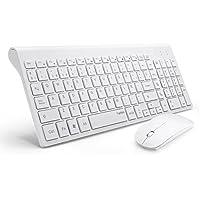 TopMate Pack de teclado y rat¨®n, 2.4 GHz inal¨¢mbrico Pack de teclado y rat¨®n (QWERTY Espa?ol£© (Espa?ol, blanco)