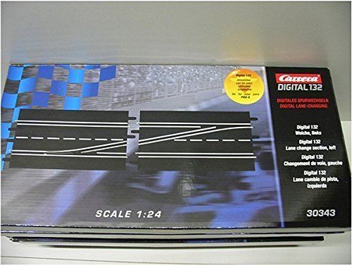 Carrera Digital 124/Digital 132 Lane Change Left Slot Car Track Section (30343) by Carrera USA Track Carrera Digital 132 Slot