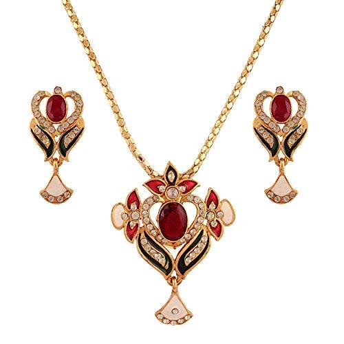 Utsavi's Lovely Pendant and earring set for women