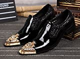 CYGG Herren Kleid Schuhe High-End-Atmosphärischen Business-Kleid Schuhe Spitze Herren Leder Metall Hochzeit Schuhe Bankett Schuhe,43