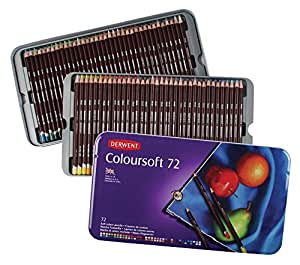 DERWENT Coloursoft Colouring Pencils Tin (Set of 72)