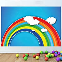 LagunaProject Rainbow Abstract Kids Nursery Bedroom Vinyl Wall Sticker Poster -120cm x 80cm