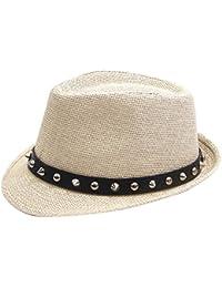 JYR Hombres Western Cowboy Jazz Hat Inglaterra Vingtage Gentleman Hat con  banda Rivet 928c335bf17