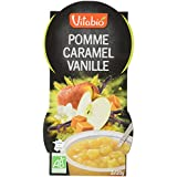 Vitabio Dessert de Fruits Bio Pomme Caramel Vanille 2 x 120 g -
