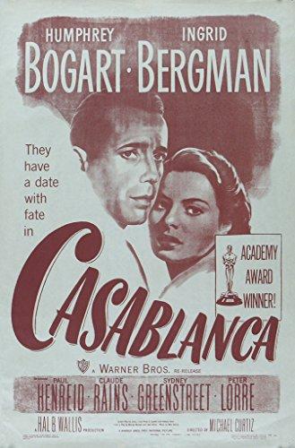Casablanca Cool, Vintage Póster de la película en tamaños, papel, A6(Sample)
