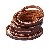 Xiazw Cuir Lacets Pour Chaussures bateau,botte de travail,1 paire (café)