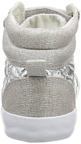 Pumpkin Patch  Metallic Quilt Hi Top,  Baby Mädchen Lauflernschuhe Grey (Silver)