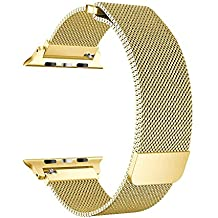 rgbzone Milanese Loop de banda Apple Watch correa de 38 mm/42 mm Apple reloj serie 1 Serie 2 serie 3, dorado, 42 mm