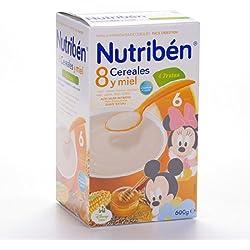 Nutribén - Papilla 8 Cereales con Miel 4 Frutas Nutribén 600gr