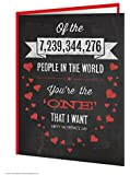 Funny Humorous 'You're The One That I Want' Valentine's Day Greetings Card