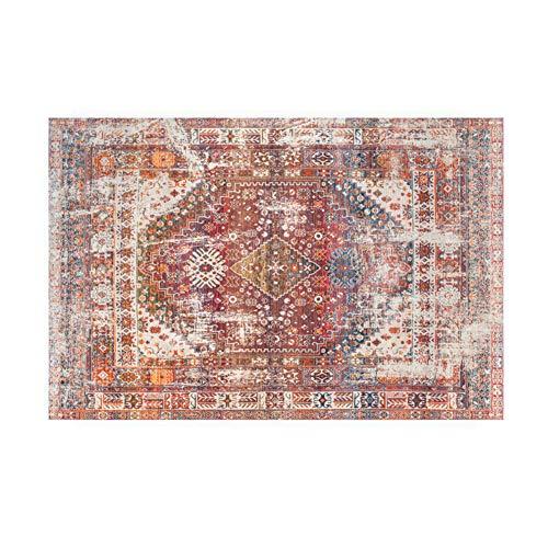 Fancytan - Alfombra Persa Oriental Tradicional Vintage, Color Rojo, Alfombra de Suelo para Sala de Estar...