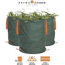 Sac pour déchets de jardin Lot de 3de gazon Prima Garden Sac de jardin feuilles Sac, Sac (Convient pour jardin comme feuilles, haie coupe ou gazon)
