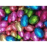 Huevos de Pascua de Chocolate de Leche Sólidos Forrados en Aluminio x 1kg (Aproximadamente 200 huevos), Cacería de Huevos de Pascua & Regalos