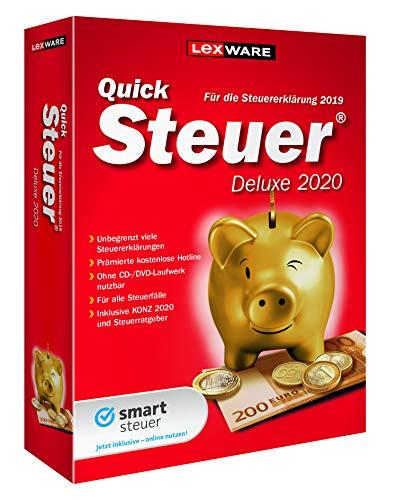 Lexware QuickSteuer Deluxe 2020 für das Steuerjahr 2019|Minibox|Einfache und schnelle Steuer-Software für die private und gewerbliche Steuererklärung