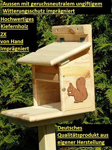 Arbrikadrex Eichhörnchenfutterhaus Eichhörnchen Haus Kobel