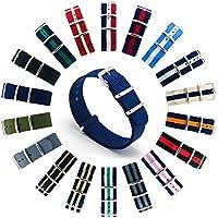 CIVO Cinturini NATO Premium Balistico Nylon Cinturino Cinghia Strap con Fibbia in Acciaio inox 22 Millimetri 18 Millimetri 20 Millimetri (Navy Blue, 22mm)
