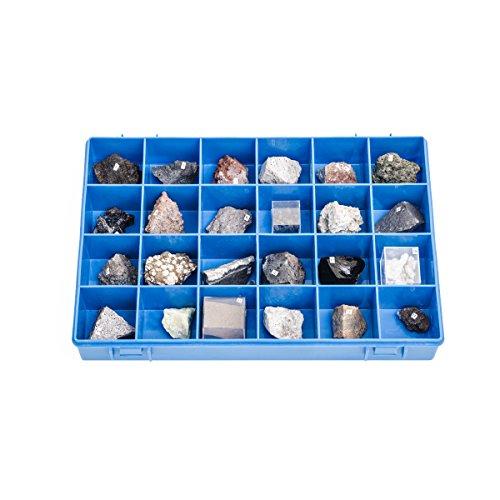 3b scientific u72010 collezione 24 rocce e minerali vulcanici